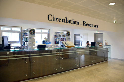 The circulation desk at the RNL ground floor.