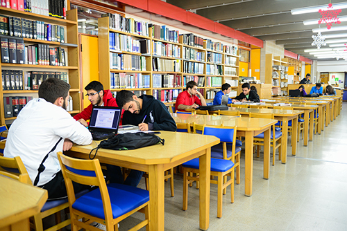 The library provides quiet and comfortable study spaces.